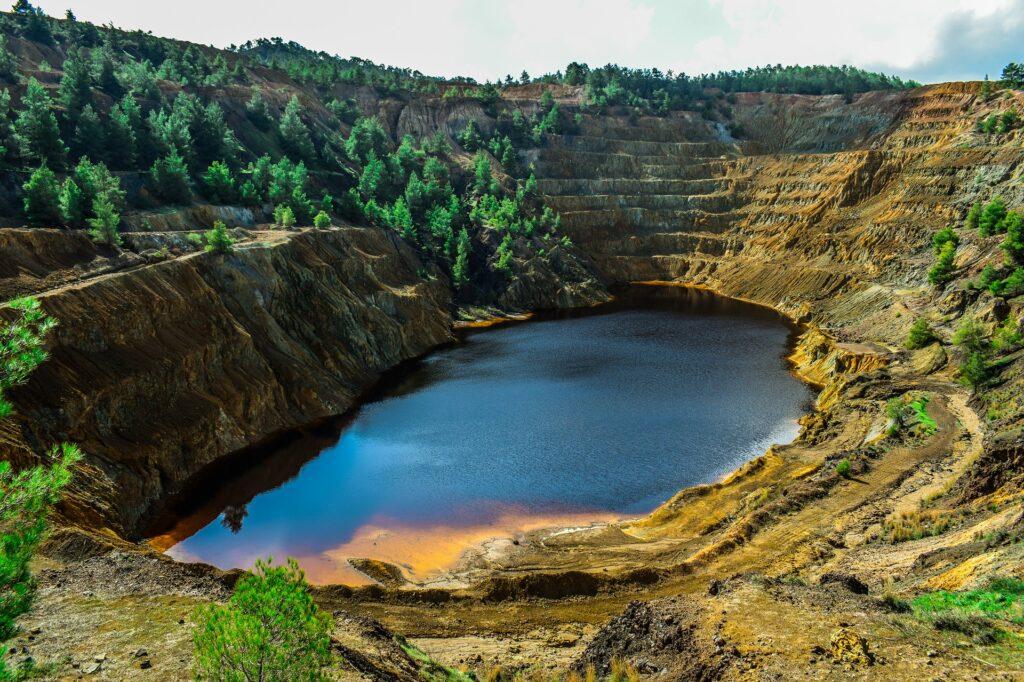 air tambang, ukuran sump tambang, tambang terbuka, air asam tambang