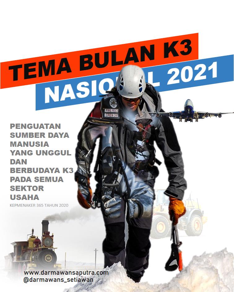 Tema Bulan K3 Nasional Tahun 2021, Tema bulan K3, Tema BK3N 2021, Pelaksanaan Bulan K3 Nasional 2021, regulasi tentang Bulan K3 Nasional 2021